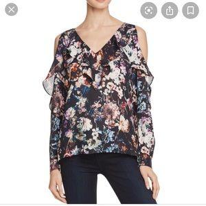 Parker floral open shoulder blouse